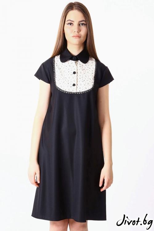 Елегантна дамска рокля с разкроен силует / SHOP MY J