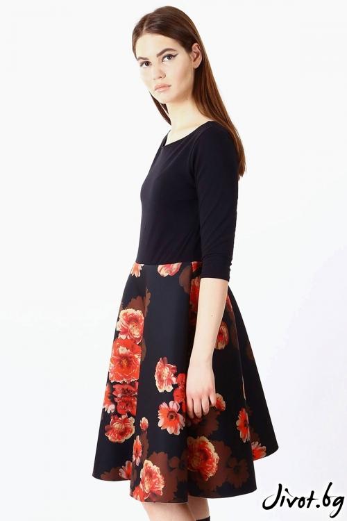 Уникална рокля с изчистена горна част / VЯRA за MUSE SHOP