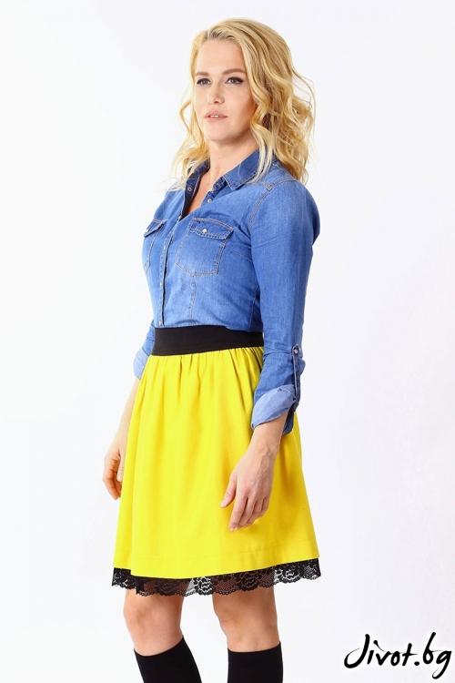 Уникална дамска пола в жълто / Cherie Marie