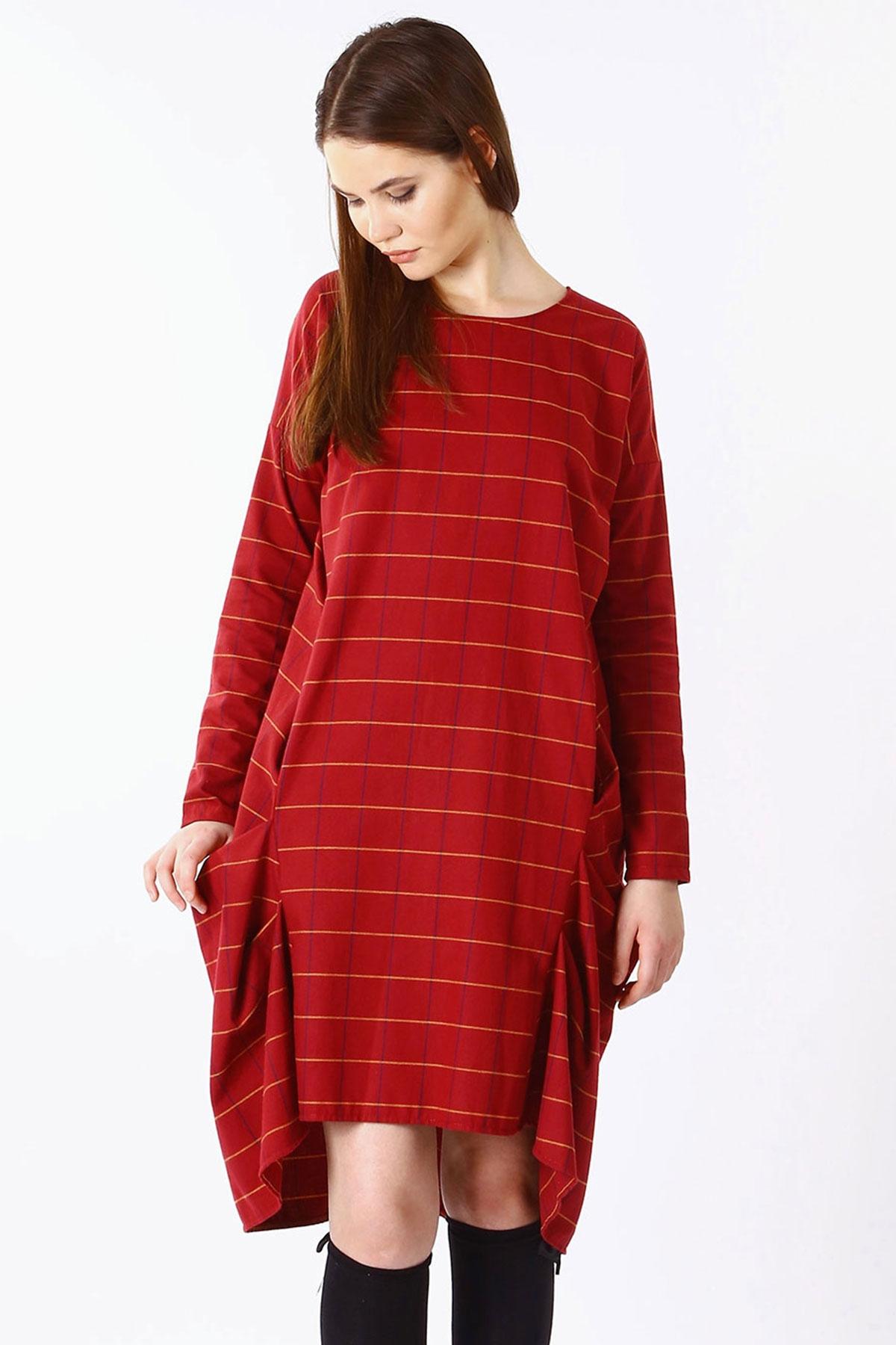 Уникална дамска рокля с набори от двете страни / Handmade by Monkey Fiction