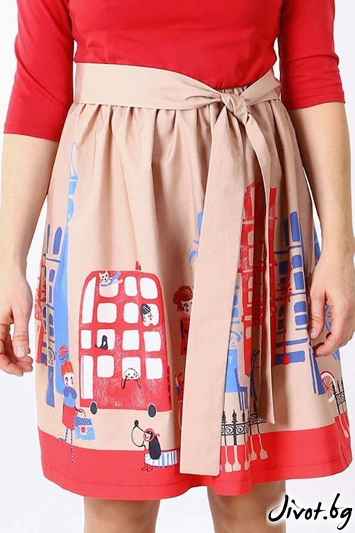 Уникална дамска рокля / VЯRA за MUSE SHOP