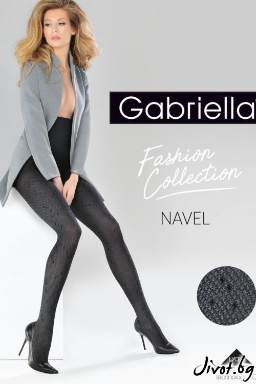 Плътен фигурален чорапогащник 3D Navel / 374