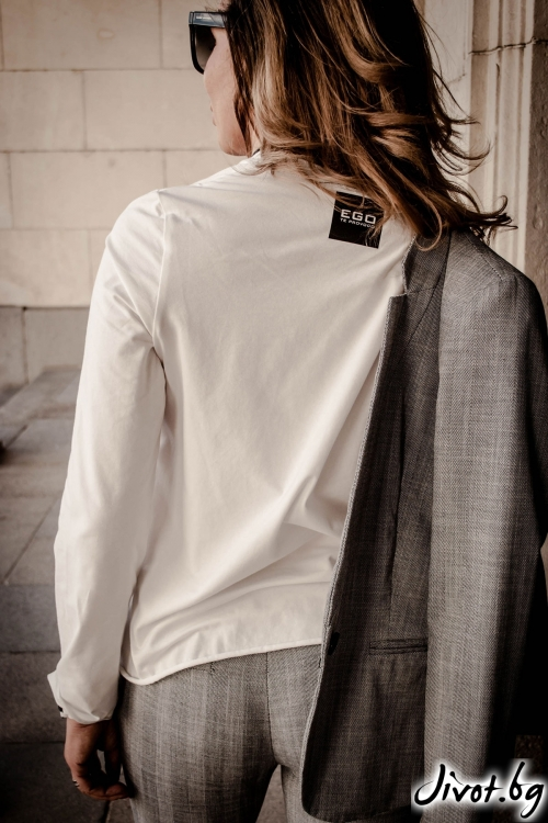 "Дамска ръчно рисувана блуза ""Love Affair"" / EGO Te Provoco"