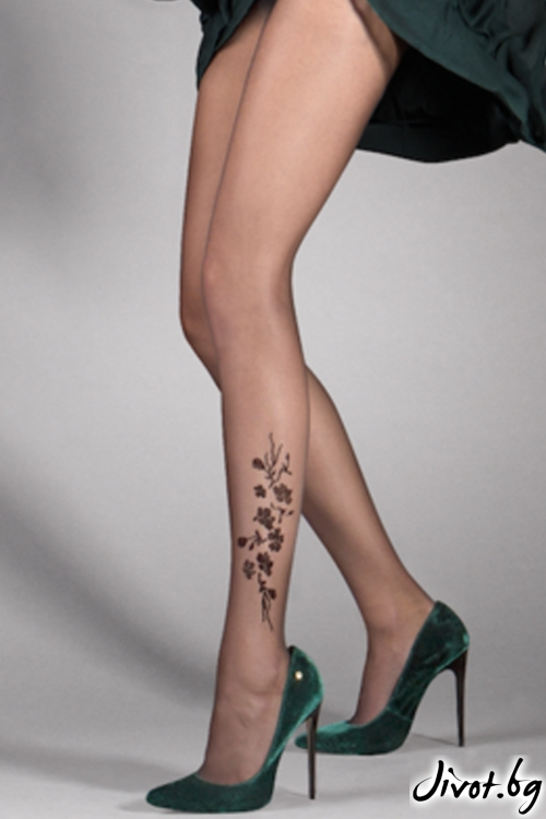 Елегантен чорапогащник със странична декорация Jasmine / 385