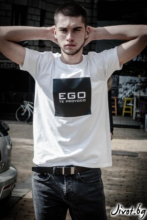 """Мъжка тениска """"Ego"""" / EGO Te Provoco"""