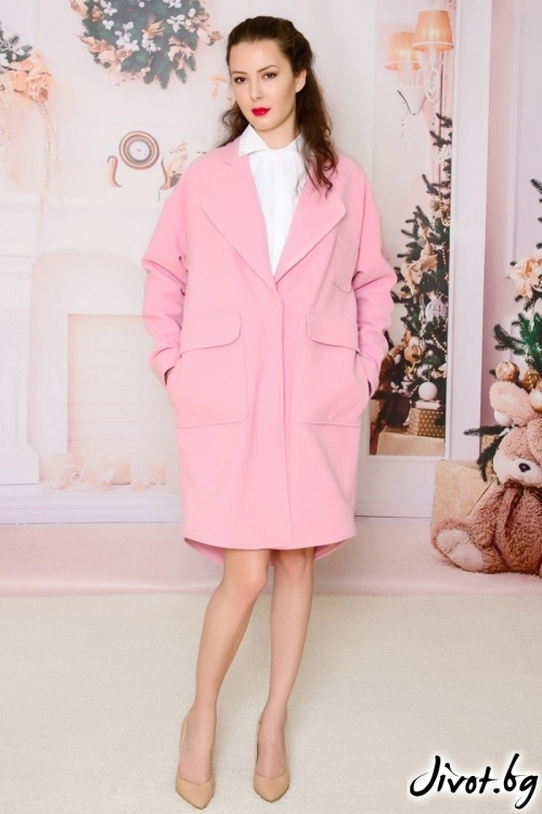"Елегантно дамско палто ""Pink"" / Vivastela"