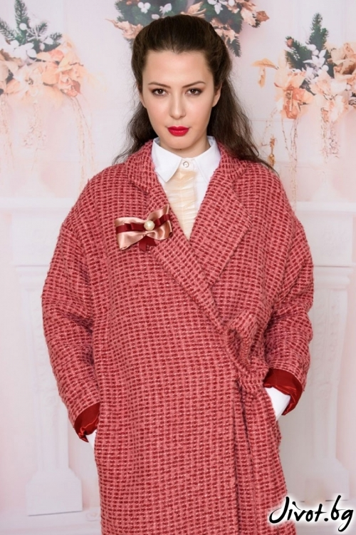 Палто от букле в шикозен цвят / Vivastela