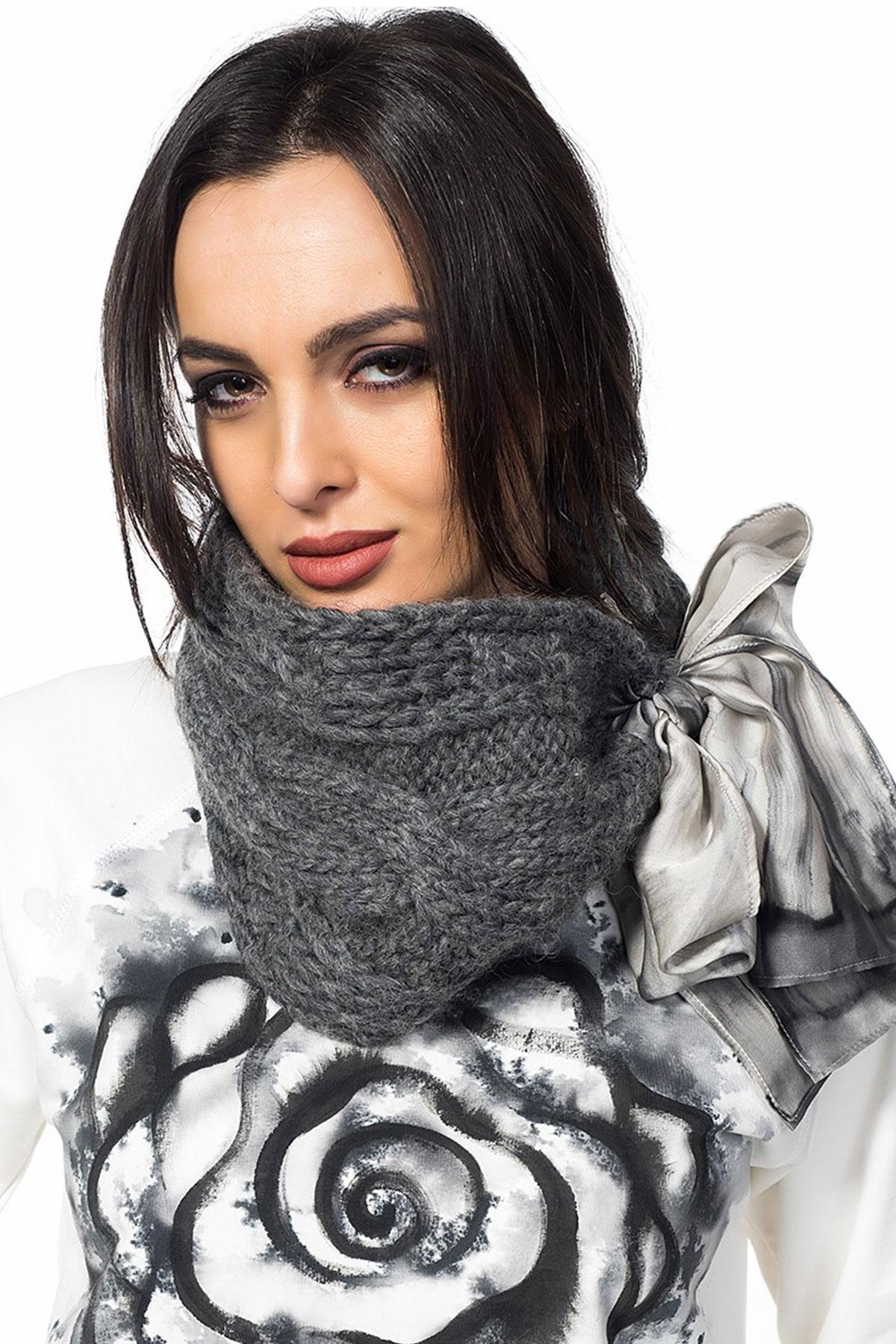 Шал-панделка Winter touch-ribbon-gray / Décollage