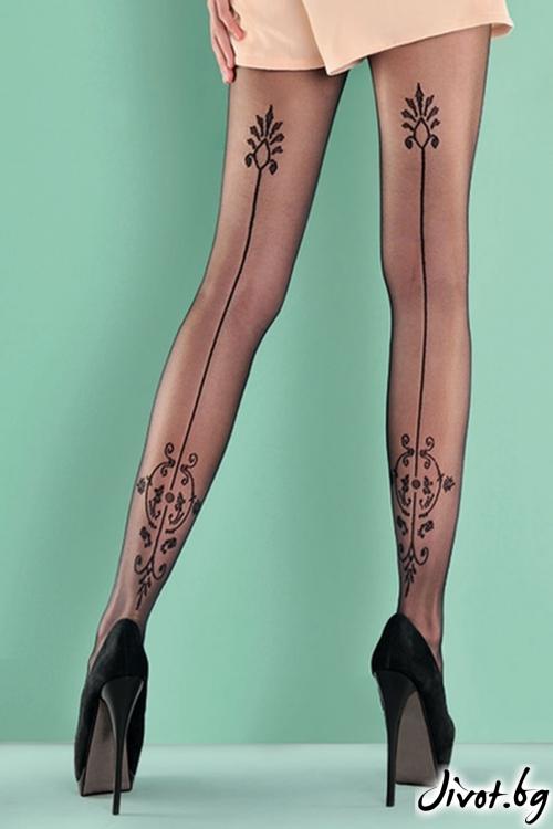 Екстравагантен фигурален чорапогащник Gabriella Paola / 346