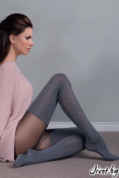 Сив чорапогащник на точки Fabia / 408