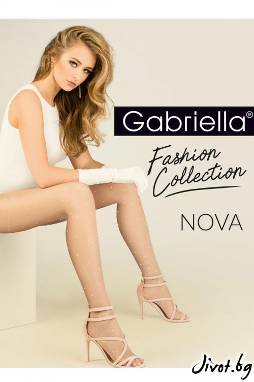 Елегантни Чорапогащи на точки Gabriella / Nova / 419