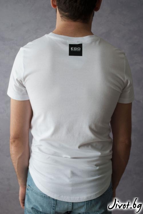 "Ръчно рисувана тениска ""SCULL"" / EGO Te Provoco"