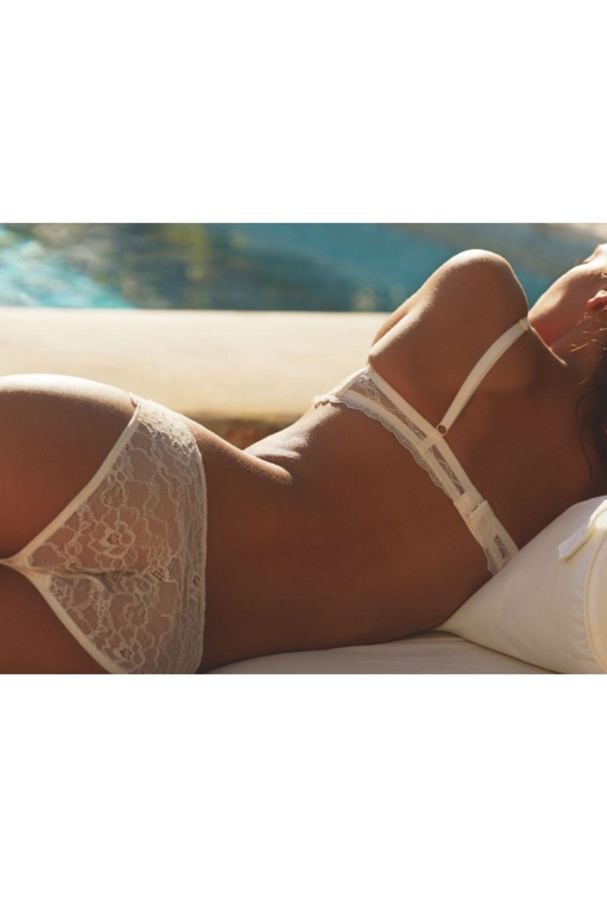 Дамски полупрозрачни бели бикини Mimosa / LIDY'S LINGERIE SHOP