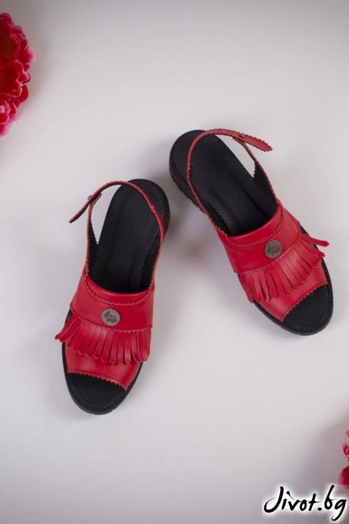 Червени сандали Poca Red / PESH ART