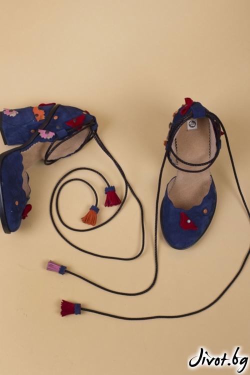 Дамски обувки на ток Festive Babe - Red / PESH ART