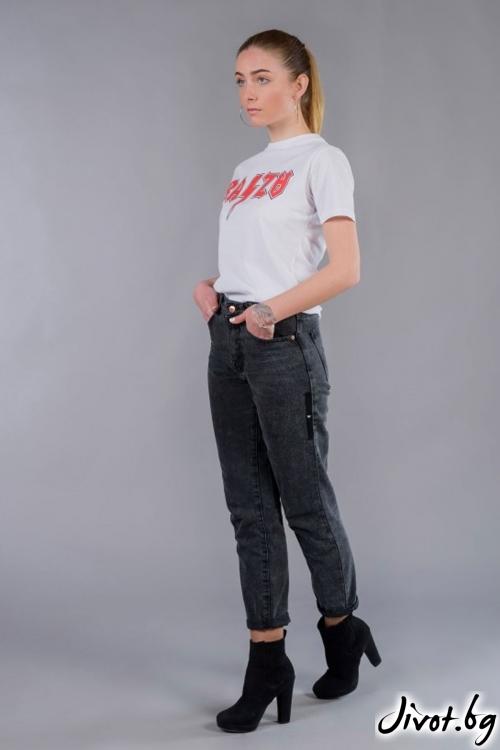 Дамска бяла тениска BW148 / BAZA