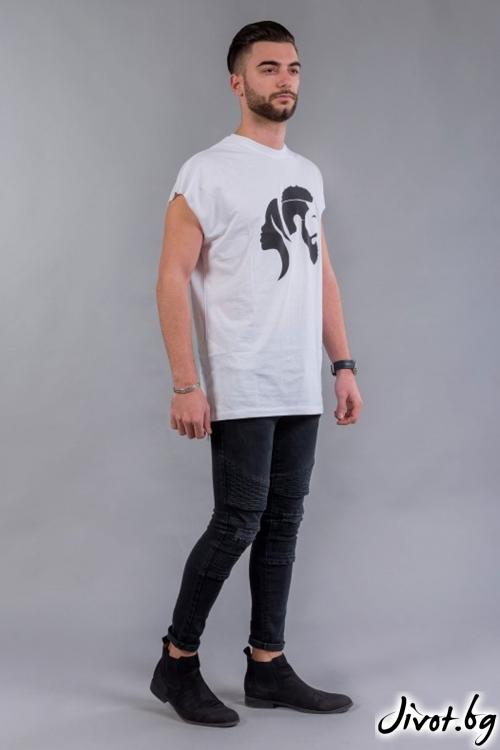 Ефектна мъжка тениска с къси ръкави BM535 / BAZA