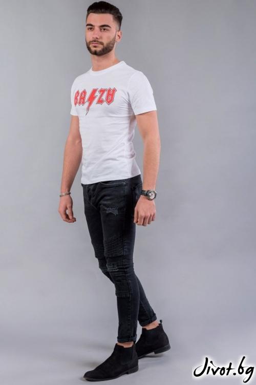 Ефектна мъжка тениска с къси ръкави BM536 / BAZA