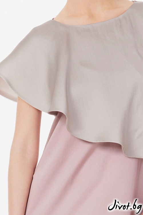 Копринена рокля с перелина / Lila Style House