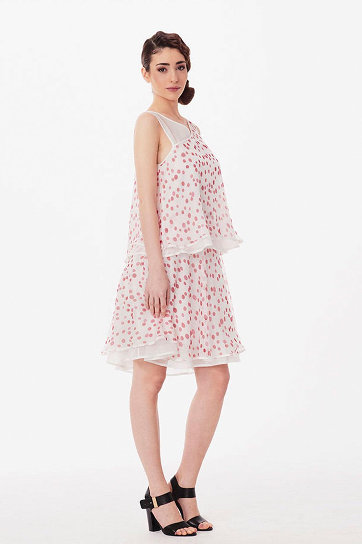 Kопринена рокля на червени точки / Lila Style House