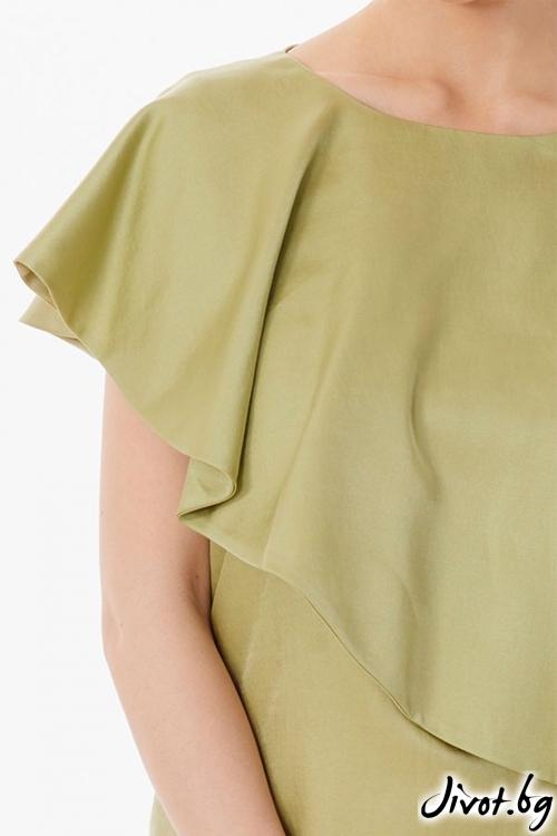 Рокля с перелина в маслиново зелено / Lila Style House