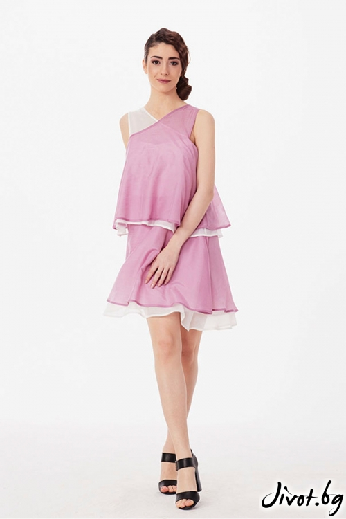 Клоширана виолетова рокля / Lila Style House