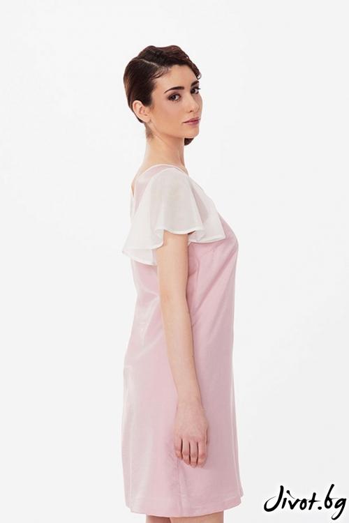 Бледорозова памучна рокля / Lila Style House