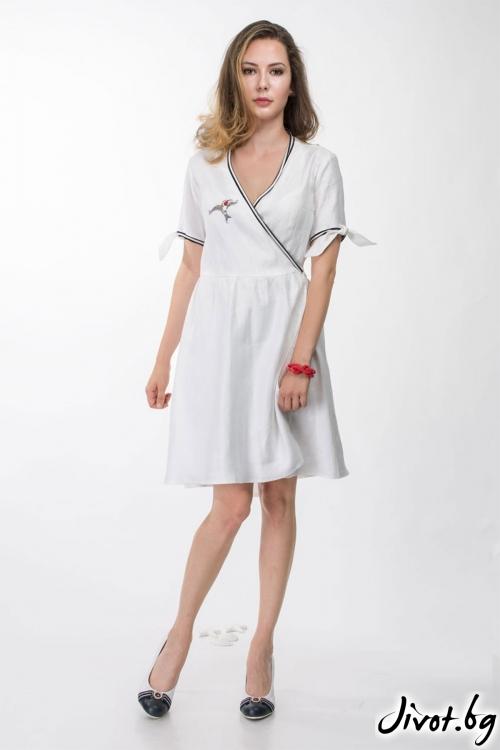 Бяла рокля с бродерия / Vivastella