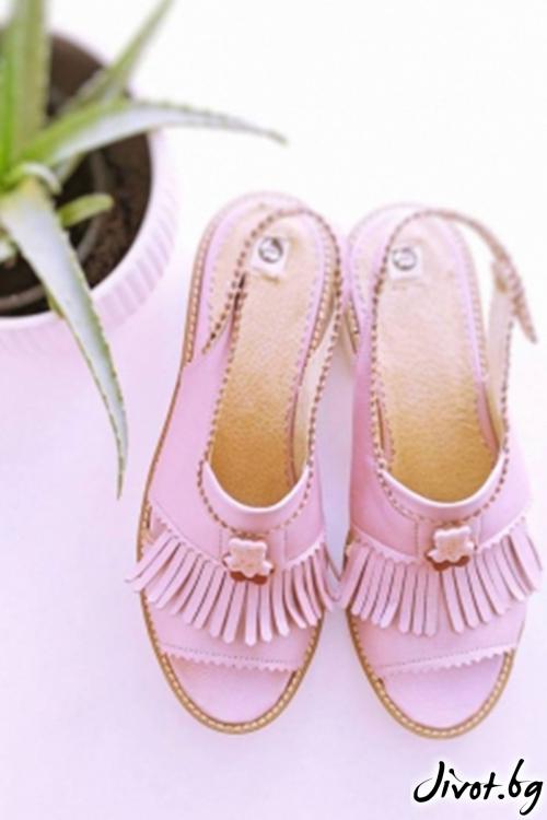 Велурени дамски сандали Mirror Poca / PESH ART