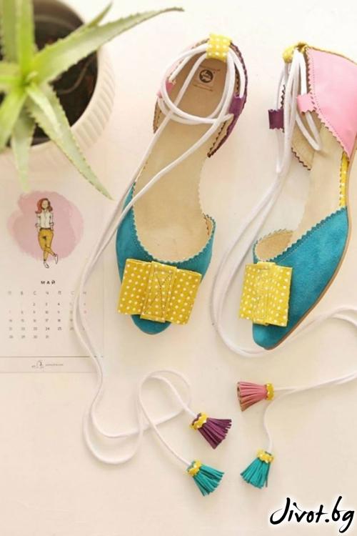 Дамски обувки от естествена кожа Candy Ballerina / PESH ART