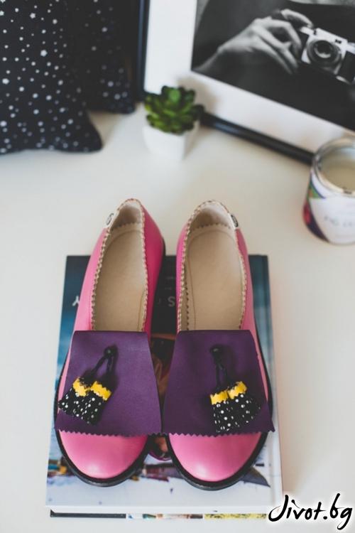 Дизайнерски обувки от естествена кожа Light Up / PESH ART