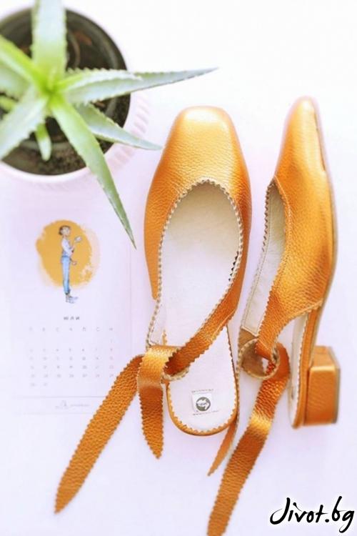 Дизайнерски обувки от естествен кожа Arabella Sun / PESH ART