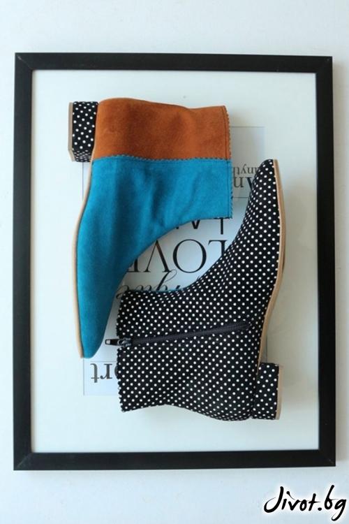 Дизайнерски боти от естествен велур Color Theory 4 / PESH ART