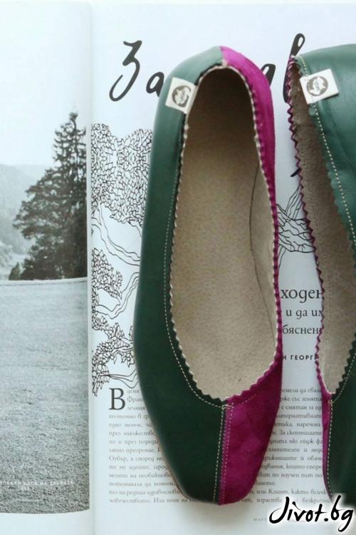 Дизайнерски обувки от естествен кожа Audrey / PESH ART
