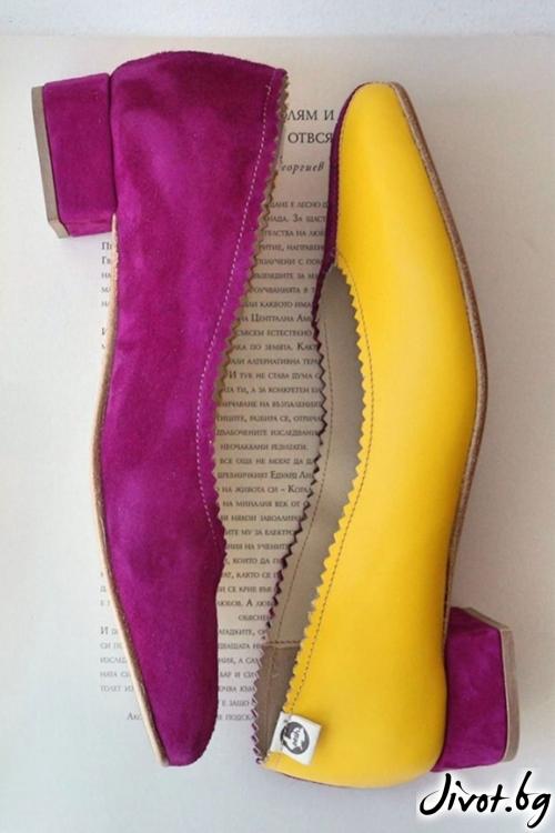 Дизайнерски обувки от естествени кожа и велур Arabella of Summer / PESH ART
