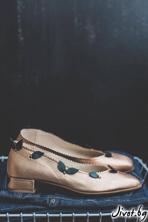 Дизайнерски обувки от естественa кожа Regina Arabella / PESH ART