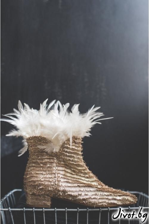 Дамски боти от естествена кожа Swan / PESH ART