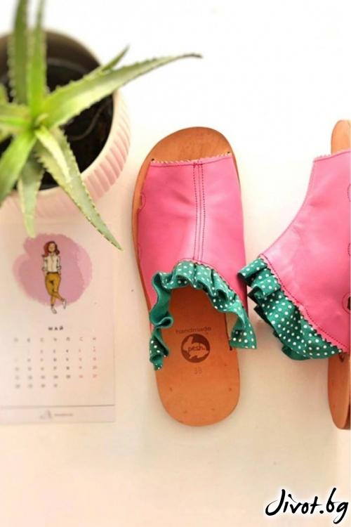 Дамски сандали от естествена кожа Candy Mules 2 / PESH ART