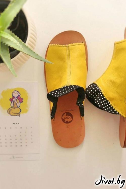 Дамски сандали от естествена кожа Sunny Dreams / PESH ART