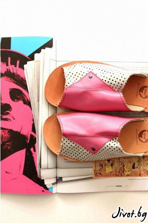 Дамски сандали от естествена кожа Candy Mules / PESH ART