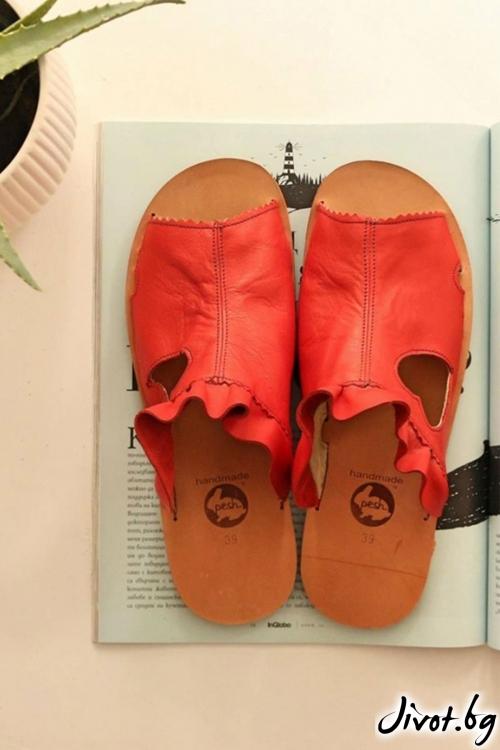 Дамски сандали от естествена кожа Love Mules / PESH ART