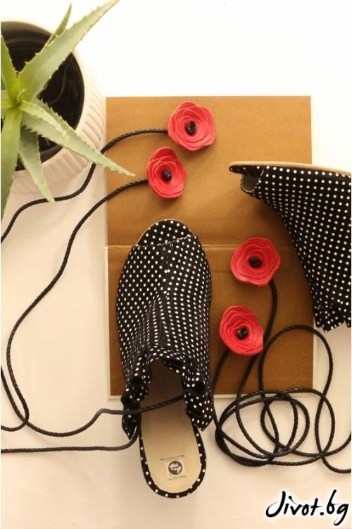 Дамски сандали на ток от естествен велур Ines - Flamenco / PESH ART