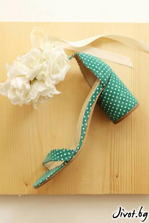 Дамски сандали на ток от естествен велур Ines Green / PESH ART