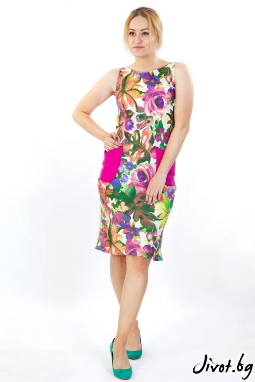 Елегантна рокля от лен / Модна къща АМБИЦИЯ