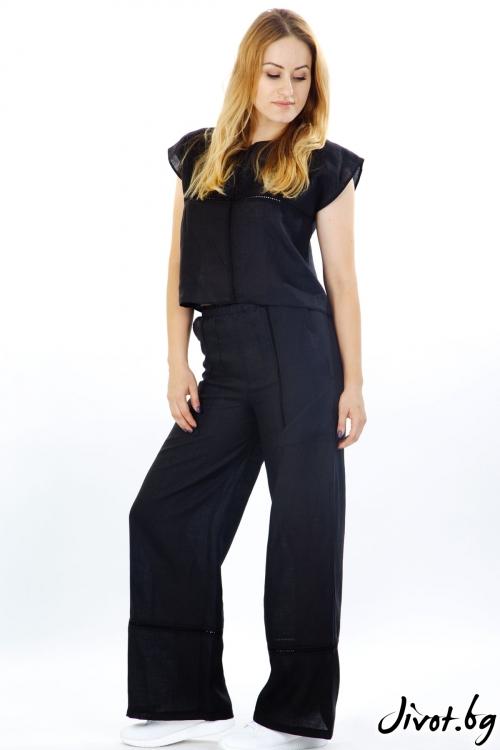 Широк панталон от лен / Модна къща АМБИЦИЯ