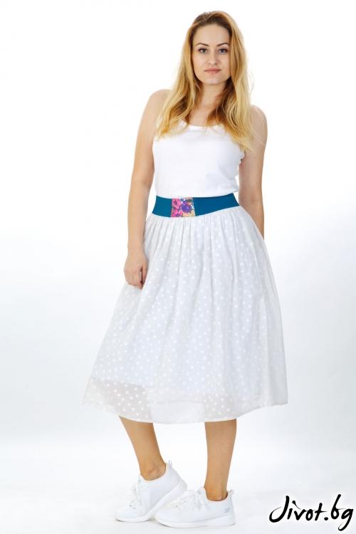 Бяла пола на точки / Модна къща АМБИЦИЯ