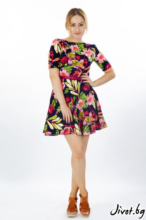Къса рокял с цветя / Модна къща АМБИЦИЯ