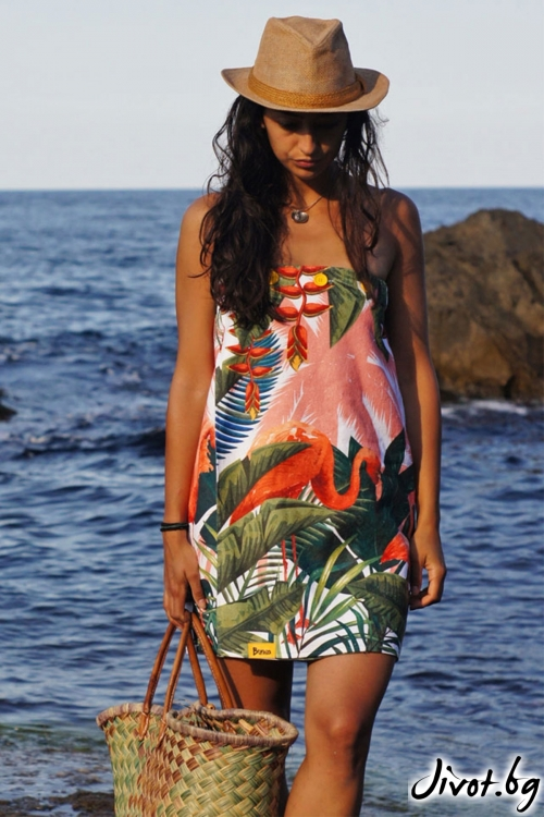 """Плажна рокля, парео и кърпа в едно """"Flamingo"""" / Bunga"""