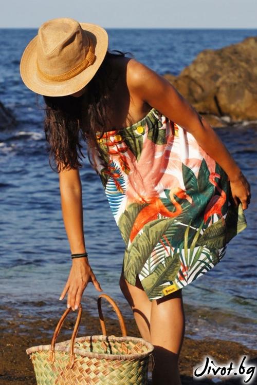 """Плажна рокля, парео и кърпа в едно """"Flamingo"""""""