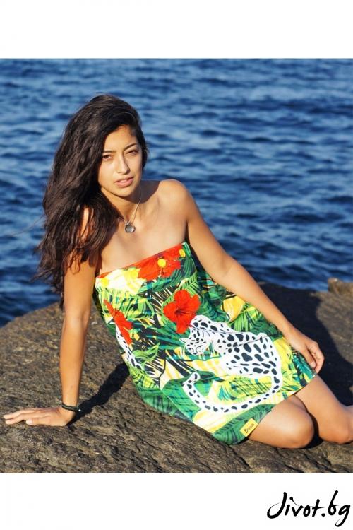 """Плажна рокля, парео и кърпа в едно """"Leopard"""" / Bunga"""